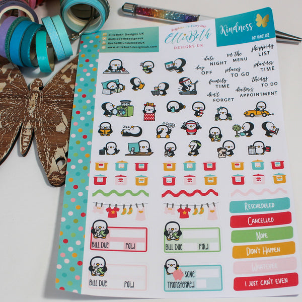 'Kindness' - Day to Day LIFE - A5 binder ready planner stickers