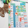 'Summer Vibes' - Mini Monthly (Hobonichi Weeks compatible) - A5 binder ready planner stickers