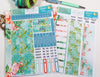 'Summer Vibes' - Monthly View Kit -  A5 binder ready planner stickers