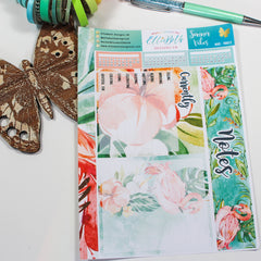 'Summer Vibes' - Notes Page Options - A5 binder ready planner stickers