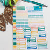 July Coordinates Functional Event Labels Planner Stickers -  A5 binder ready