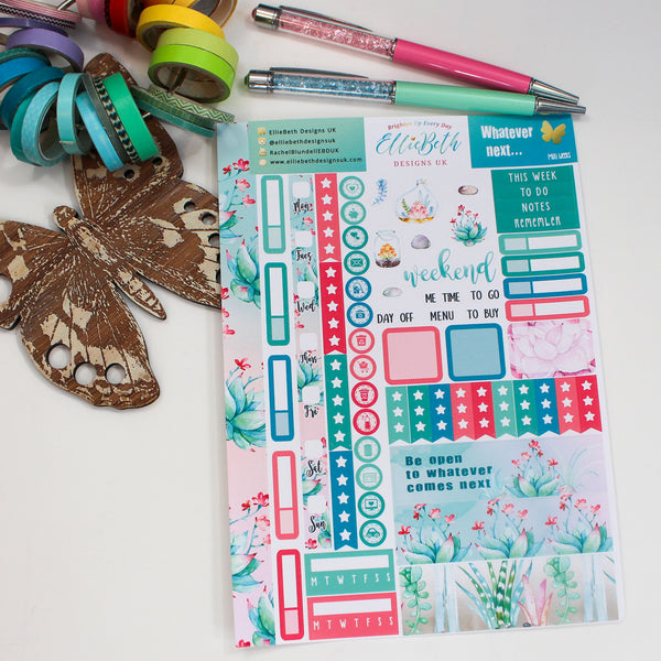 'Whatever Next...' Mini Weeks (Hobonichi compatible) - A5 binder ready planner stickers