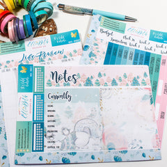 'It's Cold Outside' - Notes Page Options - A5 binder ready planner stickers