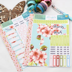 'Dare to Dream' - Monthly View Kit -  A5 binder ready planner stickers - EllieBeth Designs UK