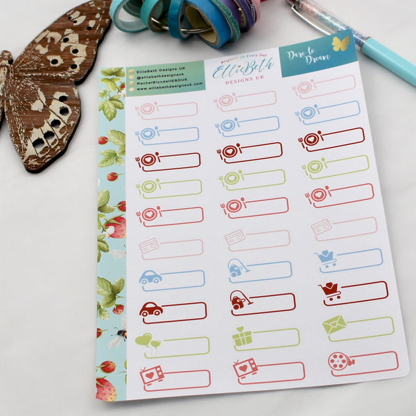 'Dare to Dream' - Day to Day Labels - A5 binder ready planner stickers