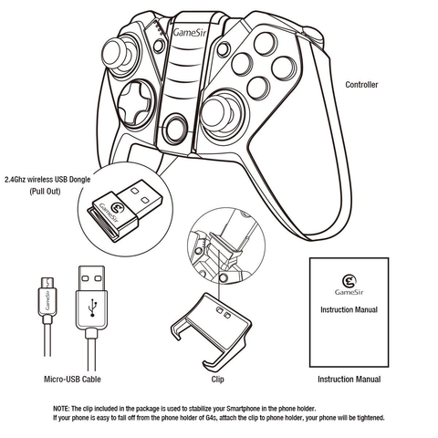 Gamesir G4s Androidpc Bluetooth Mobile Gamepad Controller
