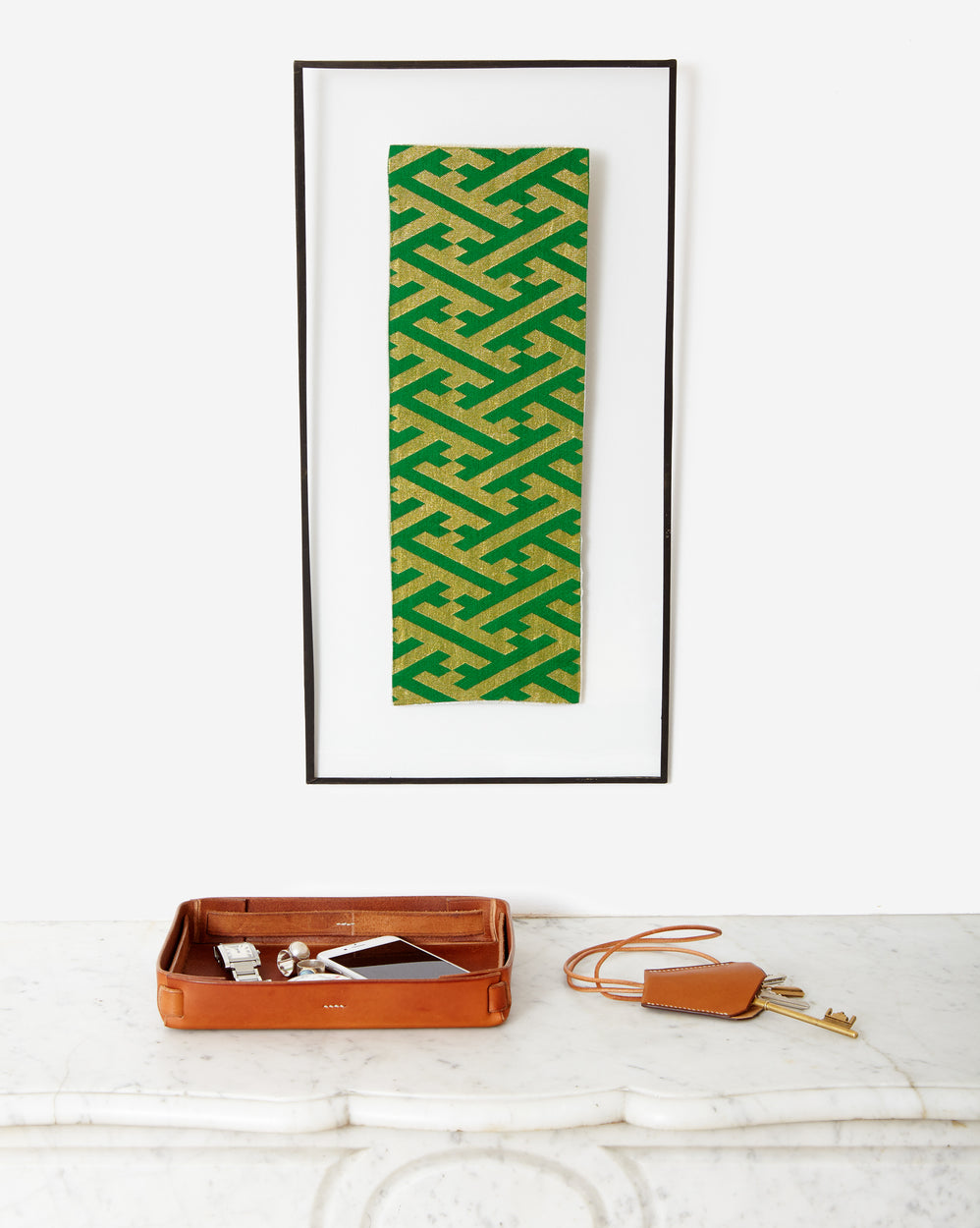 Hand-framed Japanese Obi – one of a kind