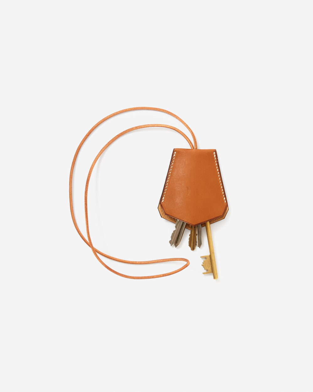 Hand-crafted Leather Key Ring Necklace
