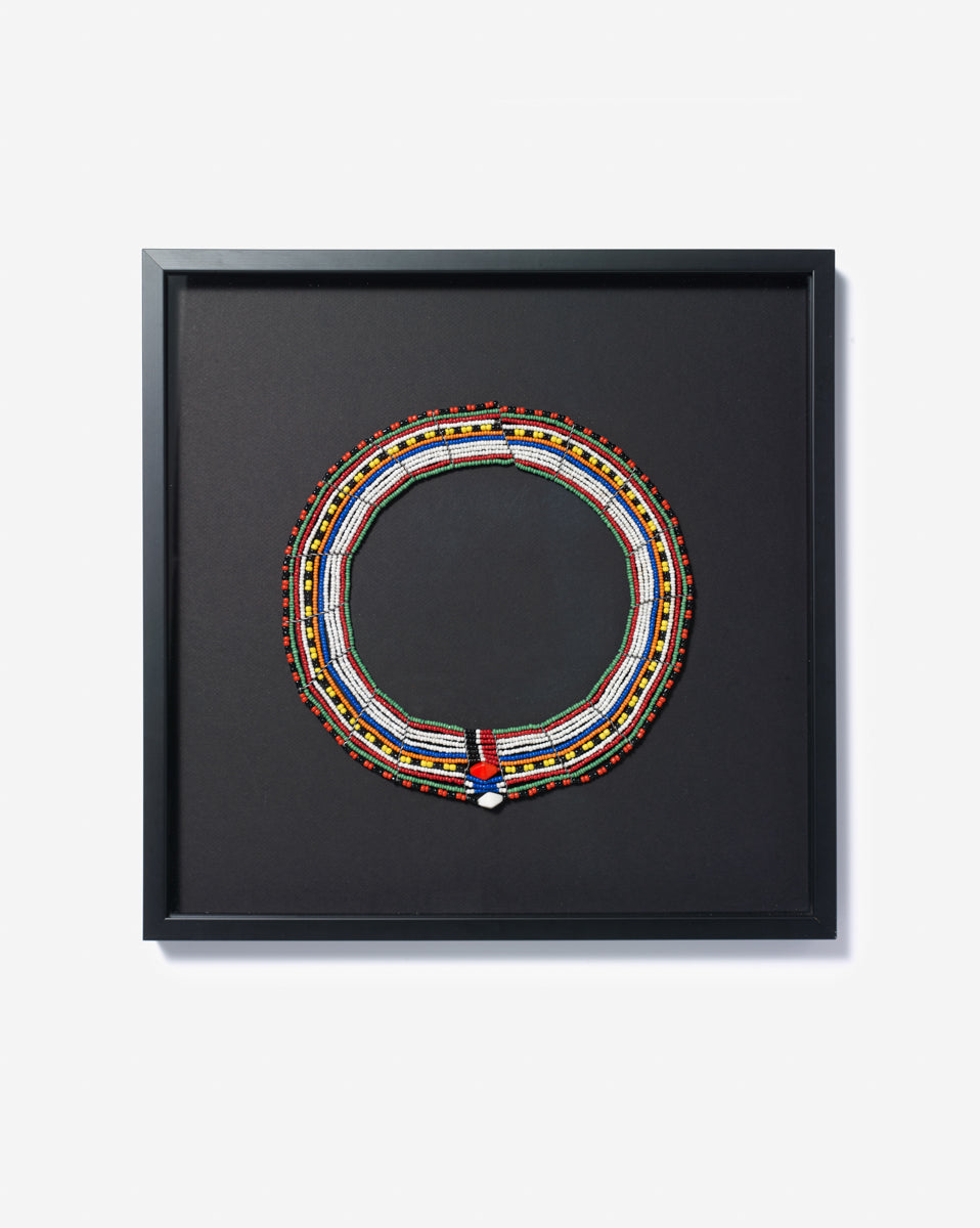 Hand-framed Maasaï Necklace – one of a kind