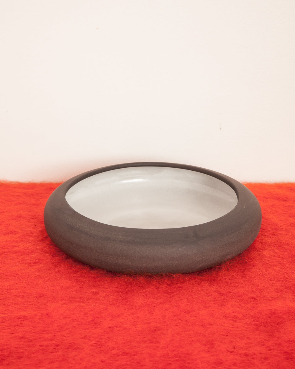 Black Clay Ceramic Large Rounded Bowl