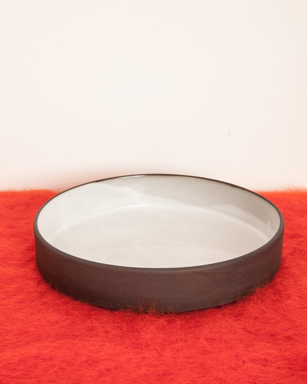 Black Clay Ceramic Large Straight Bowl
