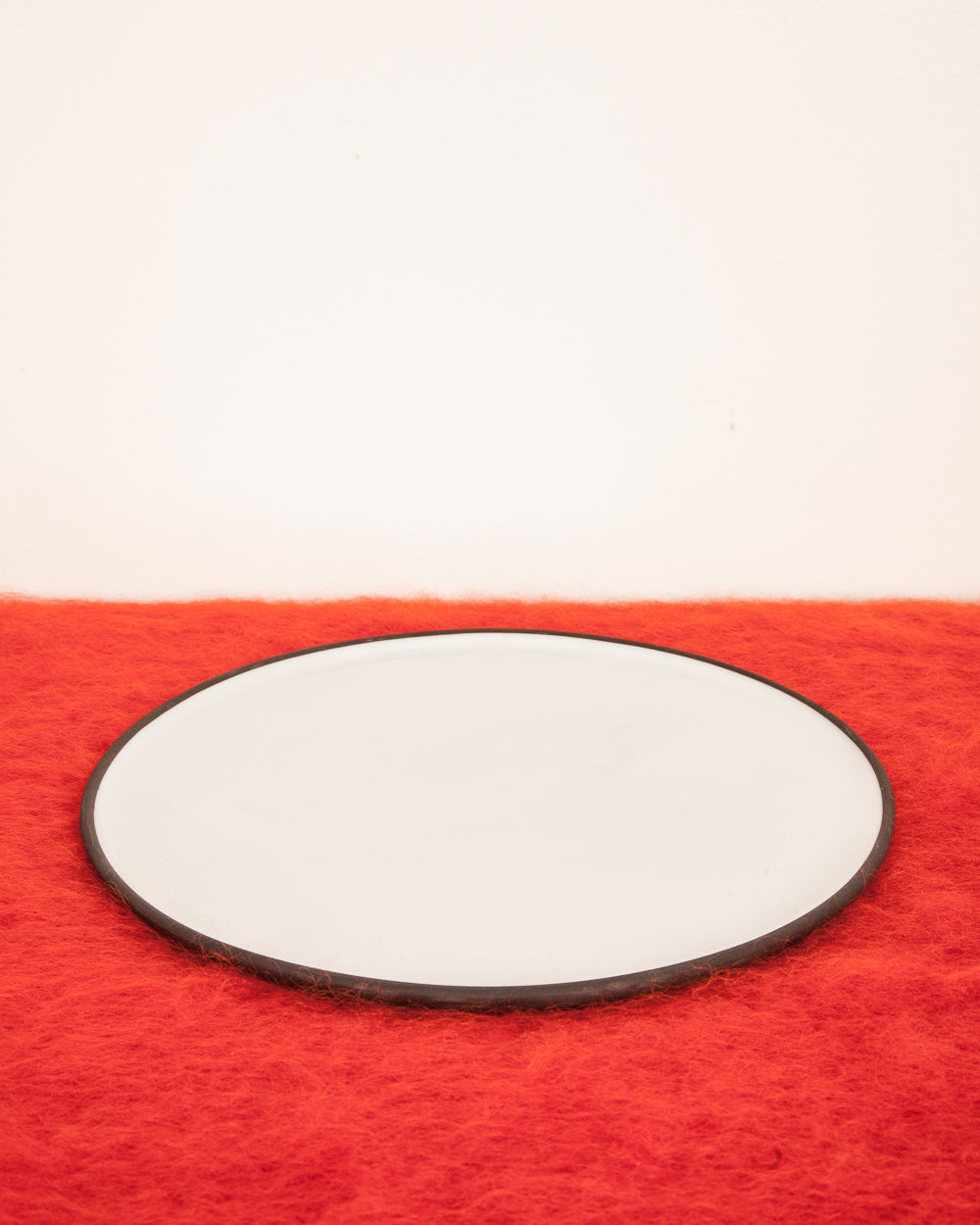 Black Clay Ceramic Dinner Plate