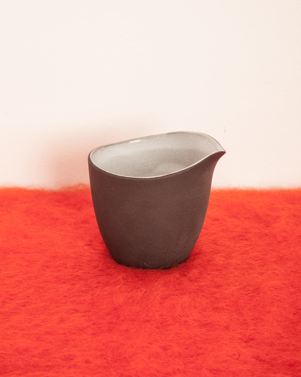 Black Clay Ceramic Milk Tumbler