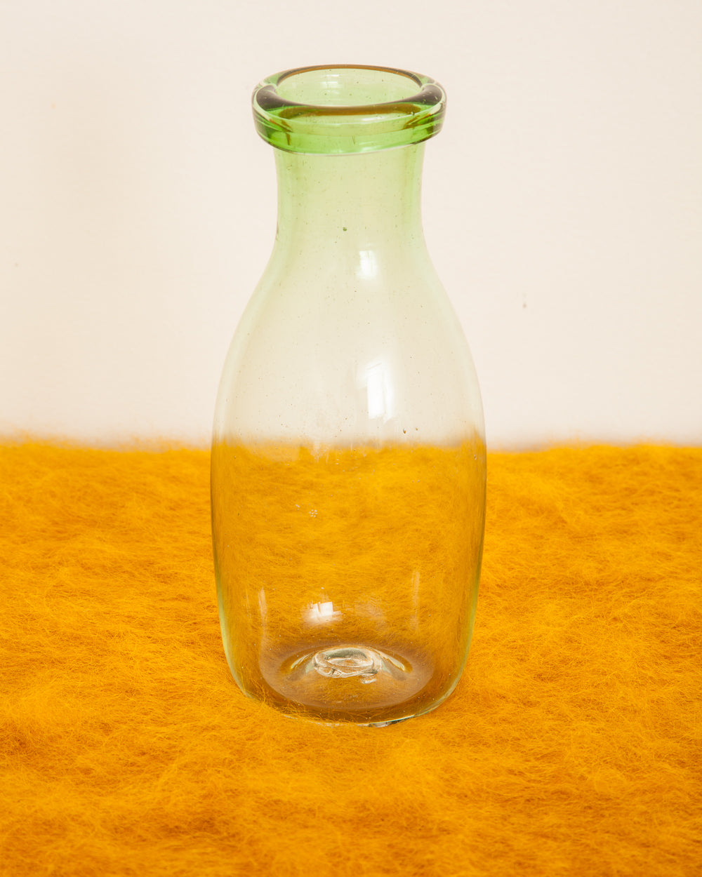 French Mouth-Blown Glass Bottle