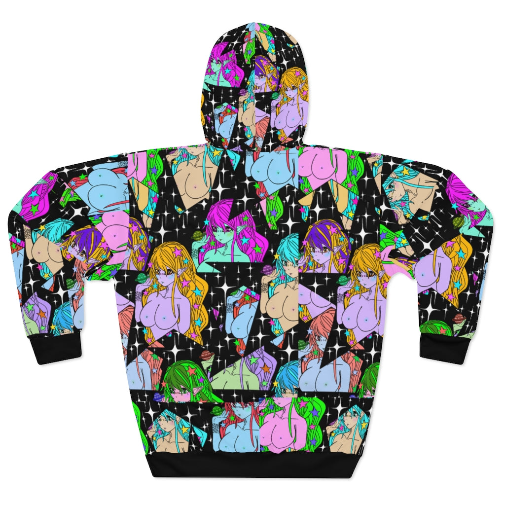 Celestial Glitch Pullover Hoodie