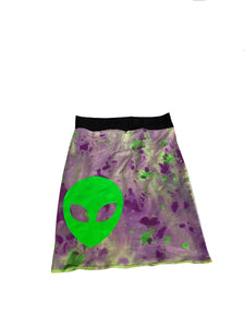 Invader Hemp Pencil Skirt (XS)