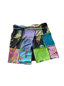 Patchwork Wrap Skirt (Medium-Large)