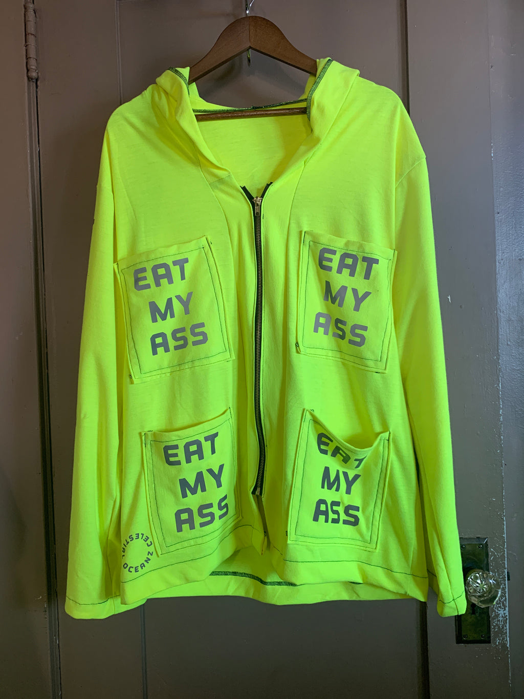 1/1 Neon Hemp Eat My Ass Zip Up