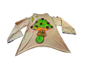 Hand painted hemp shirt (XS-LG)