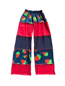 Strawberry Patchwork Pants