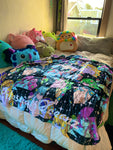Cosmic Glitch Plush Blanket