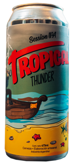 Capitán Lúpulo Tropical Thunder Session IPA- Lata 473 cc.