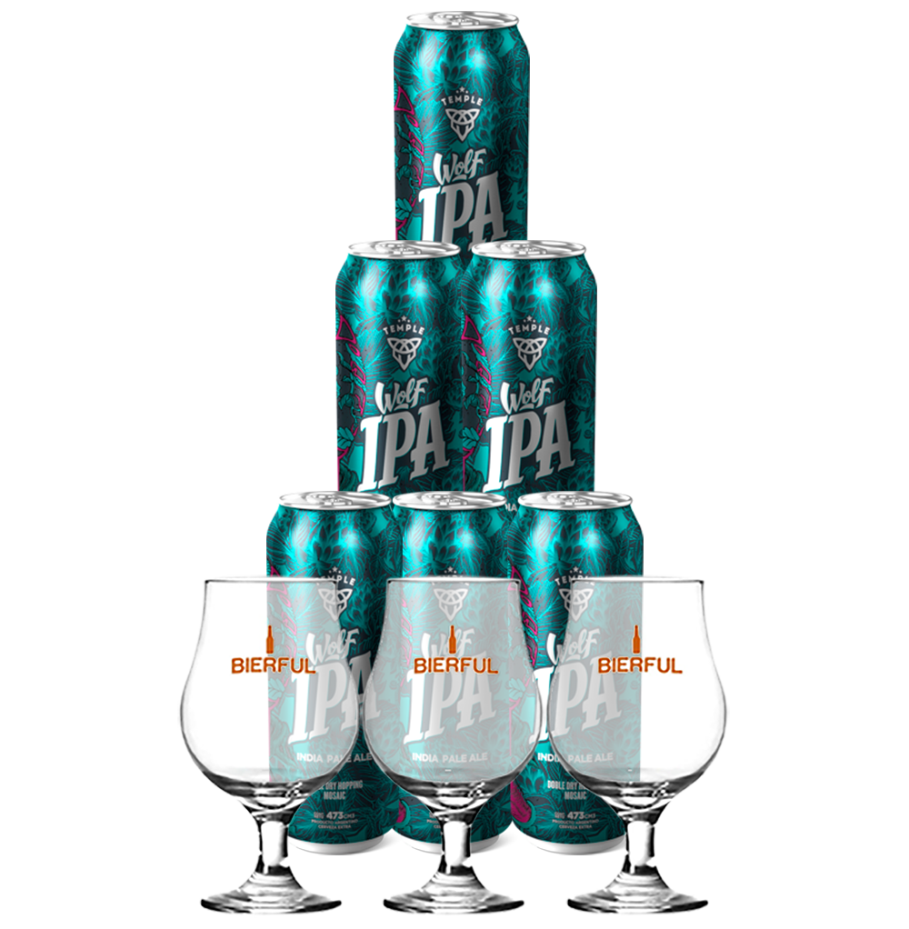 Six Pack Wolf IPA + 3 copas