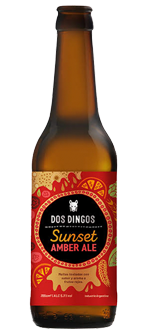 Dos Dingos Sunset Amber Ale - Botella 330cc.