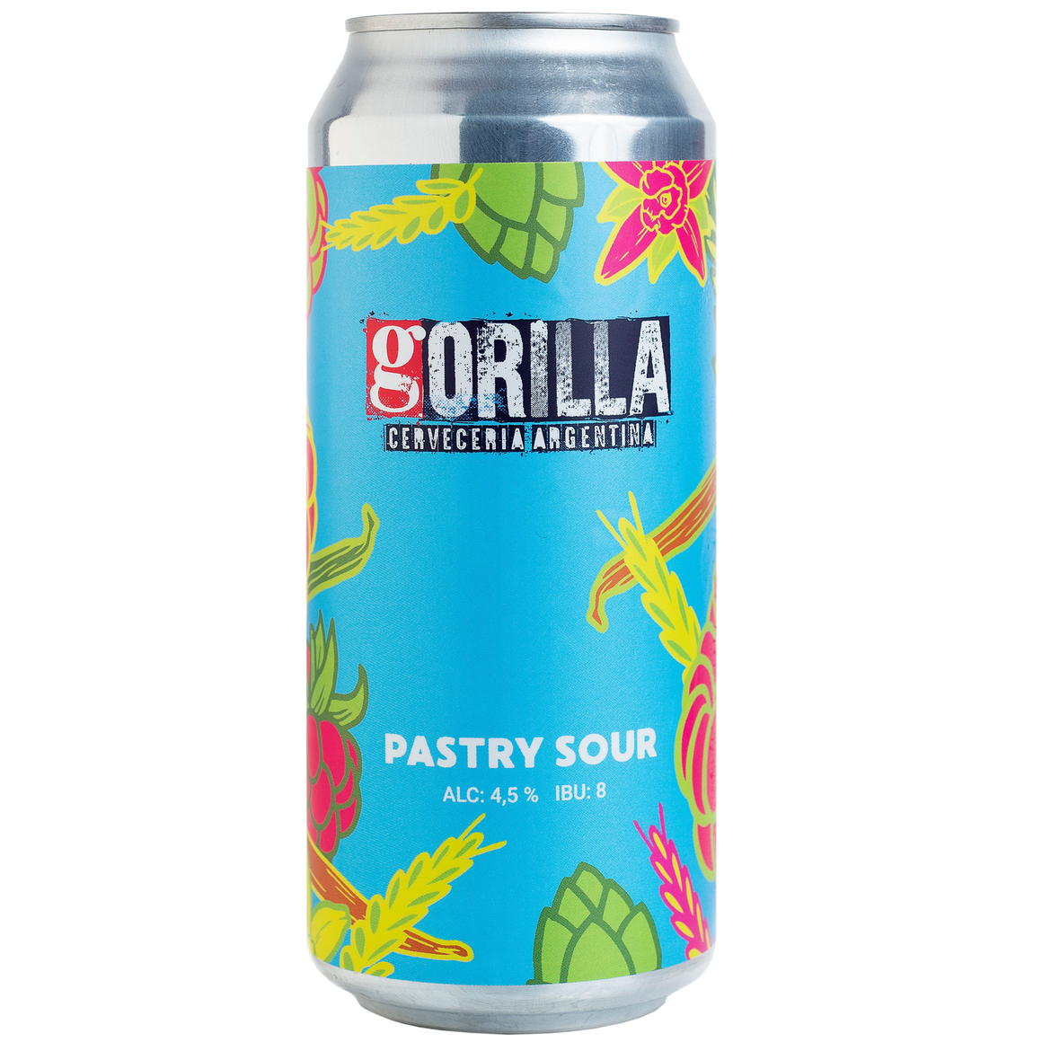 Gorilla Pastry Sour Strawberry Berliner Weisse - Lata 473 cc.