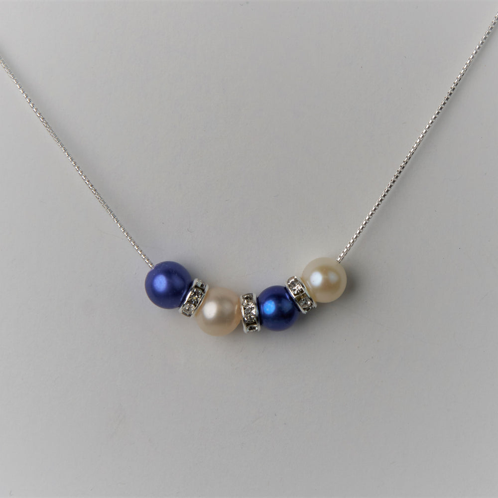 4 Pearl Threaded Necklace