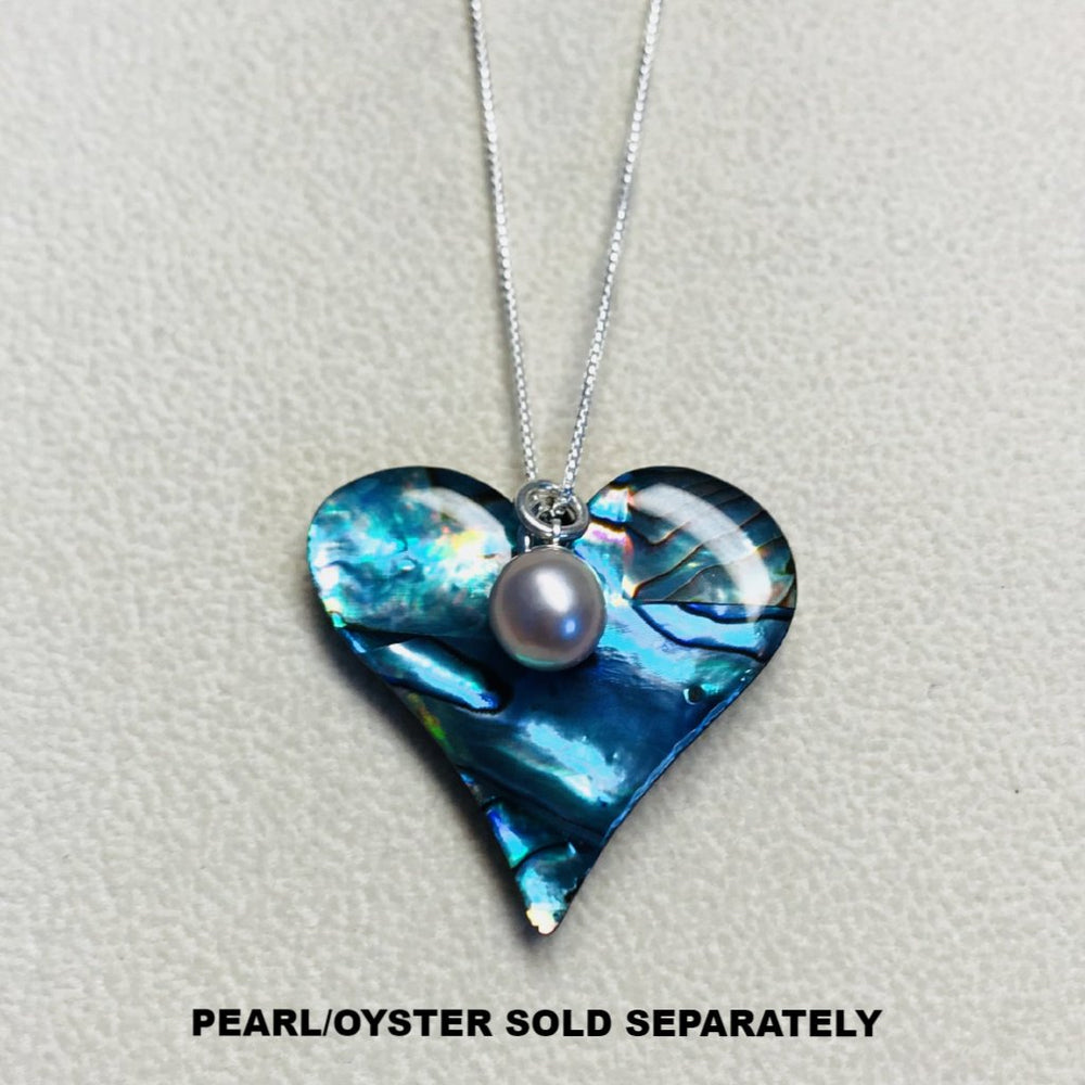 Paua Shell Heart Necklace