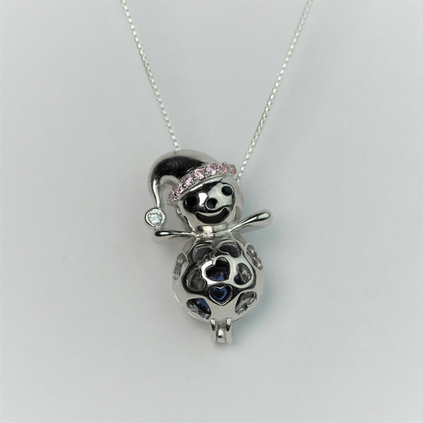 Snowman Cage Necklace