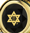 Gold Plated Star of David Necklace Shema Israel Heart Pendant 24k Gold Inscribed - NanoStyle Jewelry