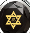 925 Sterling Silver Star of David Necklace 24k Gold Inscribed Shema Israel Pendant - NanoStyle Jewelry