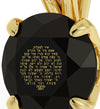 Gold Plated Star of David Necklace 24k Gold Inscribed Psalm 121 Pendant - NanoStyle Jewelry