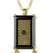 Men's Star of David Necklace with Shema Israel 72 Names 24k Gold Inscribed on Onyx - NanoStyle Jewelry