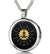 Yoga Necklace Spiritual Pendant Gold Inscribed Inspirational Mantra