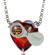 925 Silver Heart Jewelry Set 120 Languages I Love You Necklace and Crystal Earrings