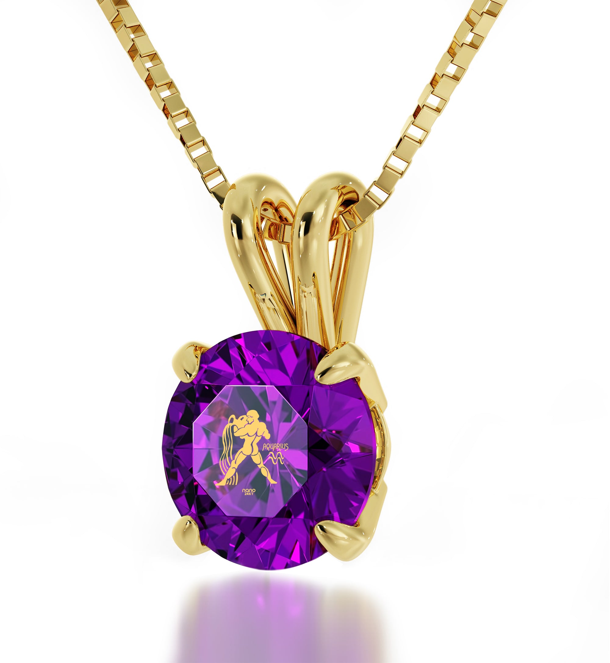 Aquarius Gold Pendant - NanoStyle Jewelry