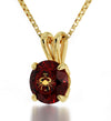 Gold Plated Cancer Necklace Zodiac Pendant 24k Gold inscribed on Crystal