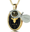 Taurus Necklace Zodiac Pendant 24k Gold Inscribed on Onyx Stone - NanoStyle Jewelry