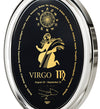 Virgo Necklace Zodiac Pendant 24k Gold Inscribed on Onyx Stone - NanoStyle Jewelry