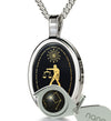 Libra Necklace Zodiac Pendant 24k Gold Inscribed on Onyx Stone - NanoStyle Jewelry