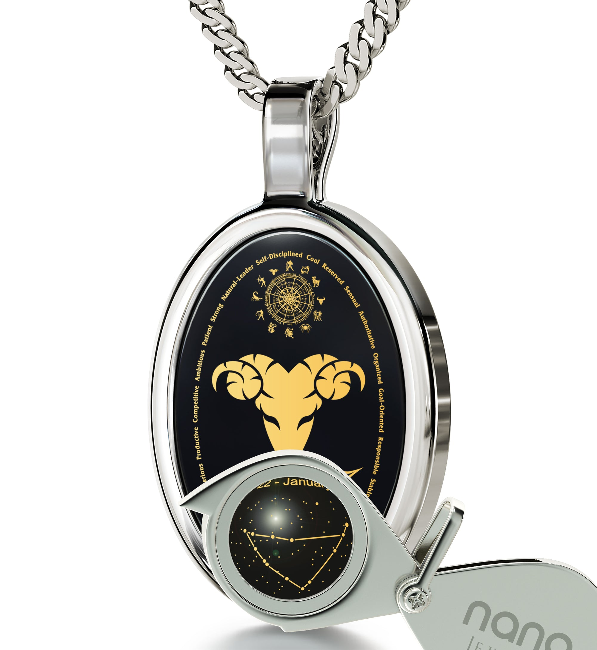 Capricorn necklace zodiac pendant 24k gold inscribed on onyx stone capricorn necklace zodiac pendant 24k gold inscribed on onyx stone nanostyle jewelry aloadofball Choice Image