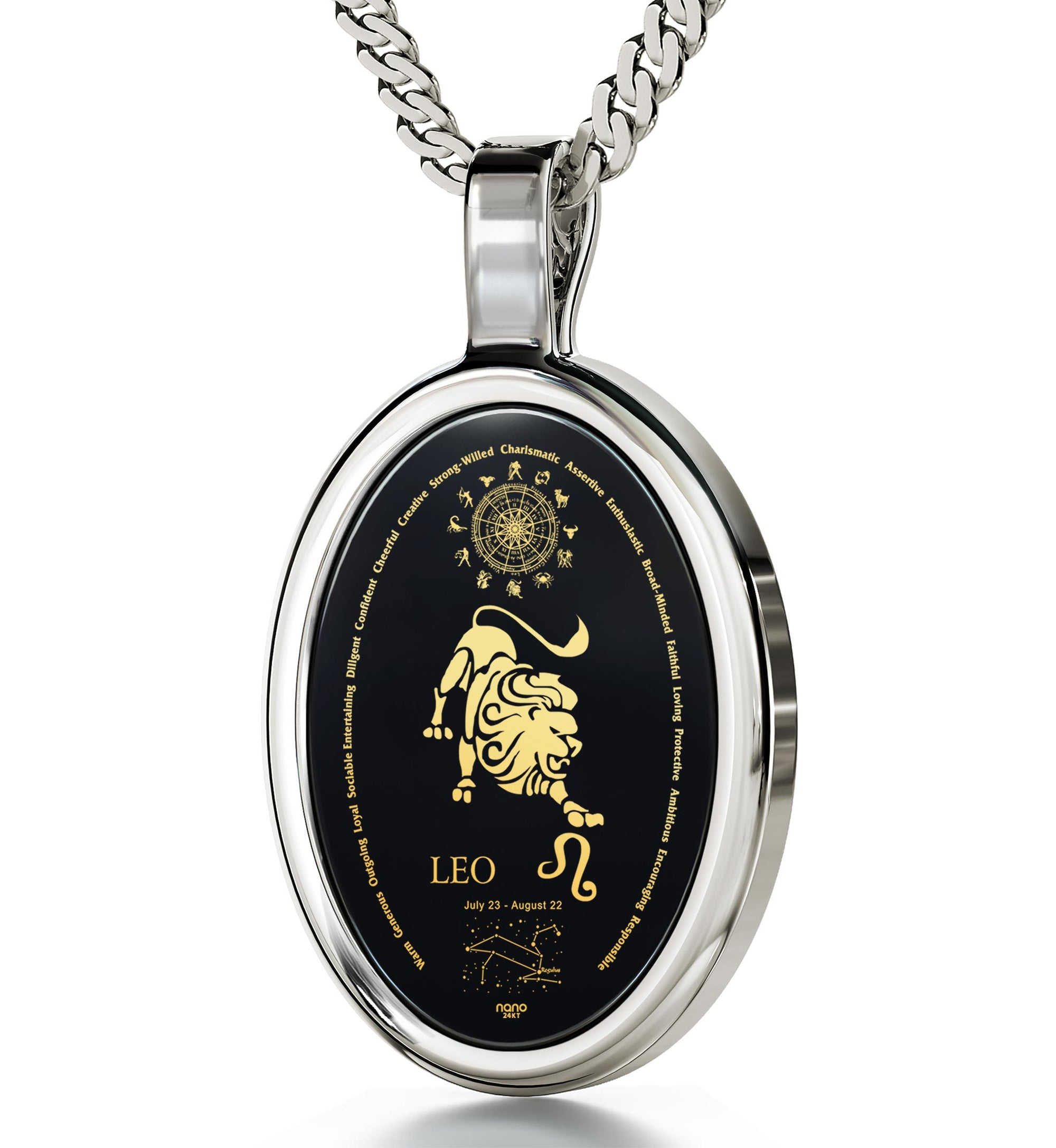 gold in reliquia necklace the filled zodiac boyfriend previous chain products undone leo by