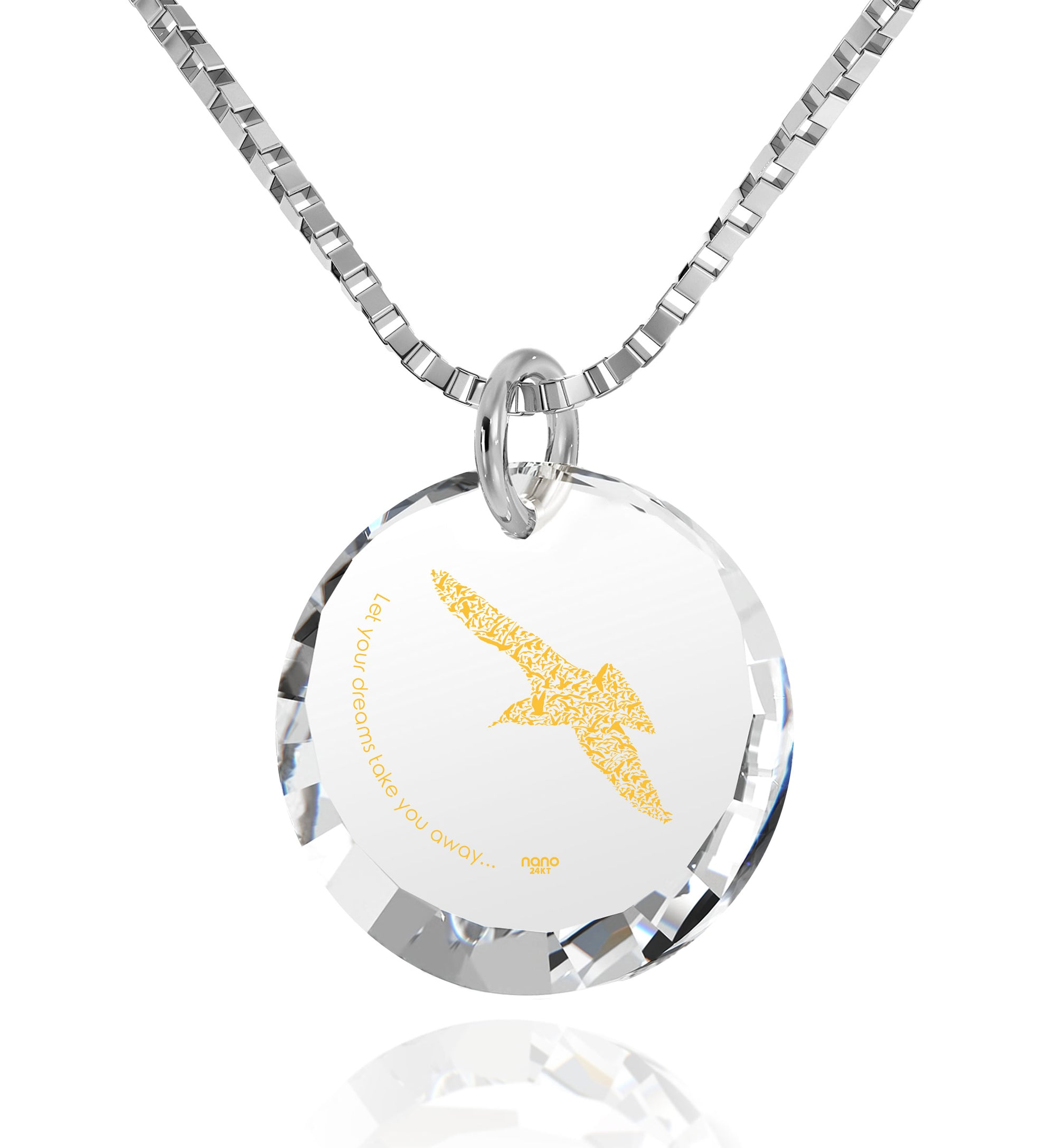 Mother Daughter Charm Necklace Inspirational Bird Pendant