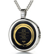 Serenity Prayer Necklace 24k Gold Inscribed Zen Circle Pendant