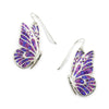 925 Sterling Silver Butterfly Dangle Earrings