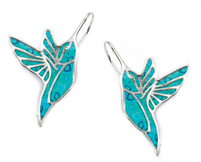 925 Sterling Silver Hummingbird Dangle Earrings - NanoStyle Jewelry
