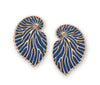 Gold Plated Sterling Silver Nautilus Shell Large Stud Earrings - NanoStyle Jewelry